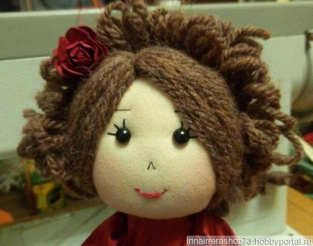 Куколка в атласном платье ручной работы на заказ