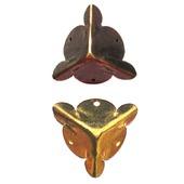 Уголки фурнитура шкатулки Ф-4 бронза золото