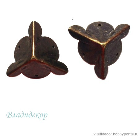 Уголки фурнитура шкатулки Ф-4 бронза золото ручной работы на заказ