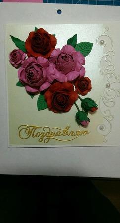 Открытка  для  любимых ,родных и близких , девушке женщине, бабушке. ручной работы на заказ