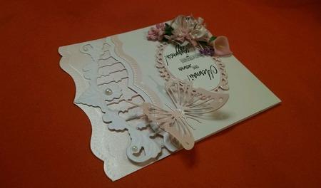 Открытка на день рождения (женскому полу) ручной работы на заказ