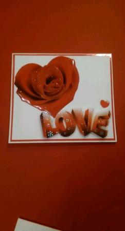 Валентинка - открытка 3D (2) ручной работы на заказ