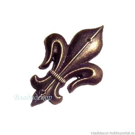 Уголки декор накладка М-88 французская лилия ручной работы на заказ