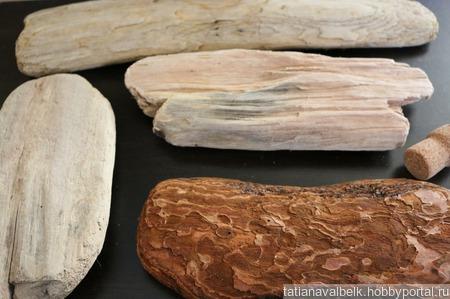 Дерево морское доска дрифтвуд 12-25 см Лот 17 ручной работы на заказ