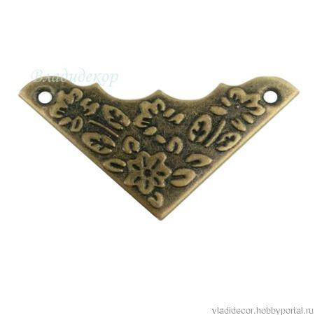 Уголки фурнитура шкатулки М-156 декор угла ручной работы на заказ