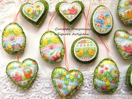 Набор из фетра и ткани 3шт. Цветы, кролики, цыплята Пасха Весна ручной работы на заказ