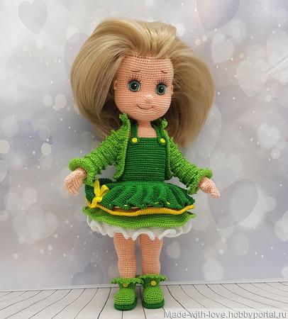 Куколка в зеленом ручной работы на заказ