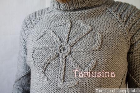 """Мужской свитер """"Коловрат"""" ручной работы на заказ"""