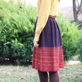 Вязаная юбка теплая яркая