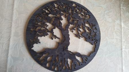 Настенное панно «Мировое древо» ручной работы на заказ