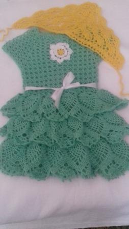 """Платье для девочки """"Зеленый листочек"""" ручной работы на заказ"""