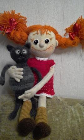 Кукла-конопушка ручной работы на заказ