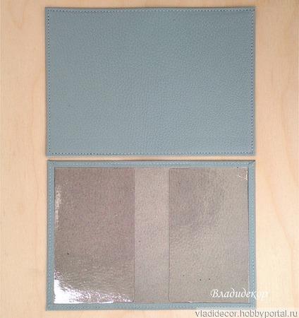 Кожаная обложка паспорт заготовка декор роспись ручной работы на заказ