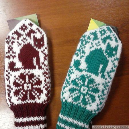 Варежки для подростка ручной работы на заказ