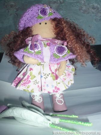 """Кукла """"Сиренька"""" с тюльпанами ручной работы на заказ"""