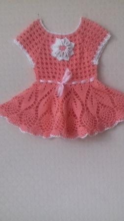 """Платье для девочки"""" Персик"""" ручной работы на заказ"""