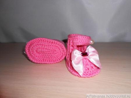 Пинетки - сандалики ручной работы на заказ