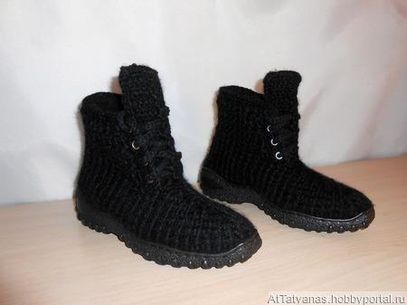 """Ботинки зимние  """"Буряшки"""" ручной работы на заказ"""