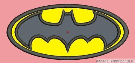 """Дизайн для вышивки """"Бэтмен"""" ручной работы на заказ"""