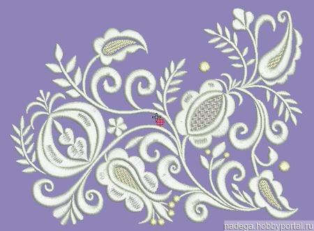 Дизайн для вышивки Узор 2 ручной работы на заказ