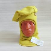 Шапка шлем в виде берета для девочки
