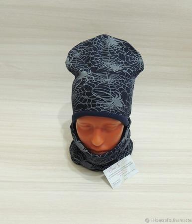 Комплект шапка и снуд детские ручной работы на заказ