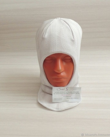 Шапка шлем зимний детский ручной работы на заказ