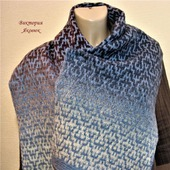 Жаккардовый шерстяной шарф