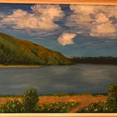 """Картина """"Волга. Жигулевские горы"""""""
