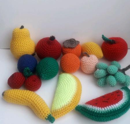 Вязаные фрукты Фруктовая корзина ручной работы на заказ