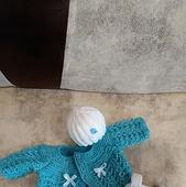 """Вязанный комплект для куклы """"Нежность"""""""