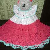 Детское ажурное платье