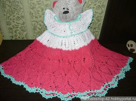 Детское ажурное платье ручной работы на заказ