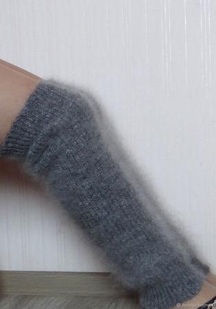 Гетры вязаные пуховые теплые ручной работы на заказ