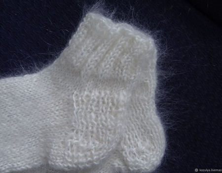 Носки укороченные пуховые ручной работы на заказ