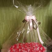Конфетный букет - подарок сердце!