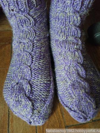 Носки вязаные шерстяные ручной работы на заказ