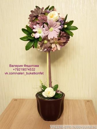 Топиарий - дерево счастья ручной работы на заказ