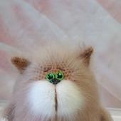 Вязаный котик толстячок
