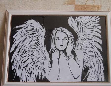 """Картина """"Ангел"""" ручной работы на заказ"""