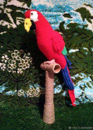 Попугай ара Кеша ручной работы на заказ