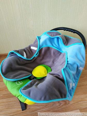 Конверт-одеяло для автокресла ручной работы на заказ