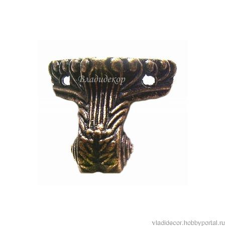 Ножки фурнитура шкатулки М-152-б бронза уголки ручной работы на заказ