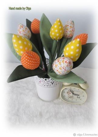 Тюльпаны в стиле тильда ручной работы на заказ