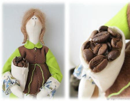 Кофейный ангел тильда ручной работы на заказ