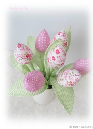 Букет тюльпанов ручной работы на заказ