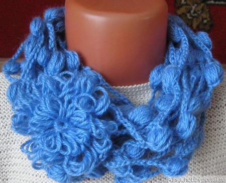 Украшение вязаное - шарфик ручной работы на заказ