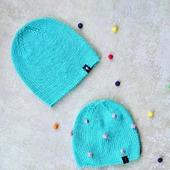 Комплект шапок мама-дочка