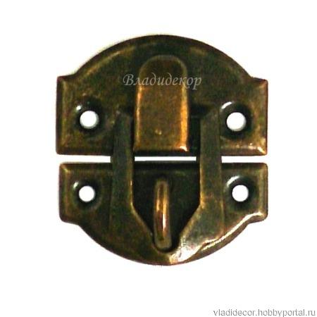Замочек шкатулки пряжка М-239 застежка проушина ручной работы на заказ