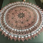 Ажурная скатерть «Клубничный зефир»